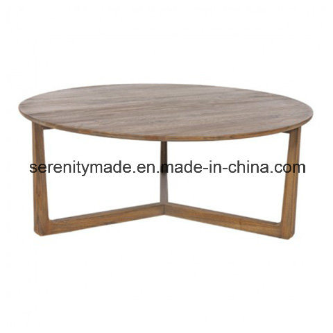 China Foshan barata fábrica de madera maciza Mesa Redonda ...