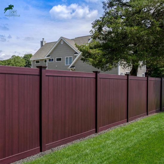Clôture de style nord-américain, clôture de la vie privée, clôture de bord,  clôture en PVC
