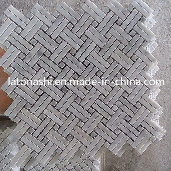 Bande de marbre poli pour salle de bains carrelage de sol en mosaïque ou  cuisine
