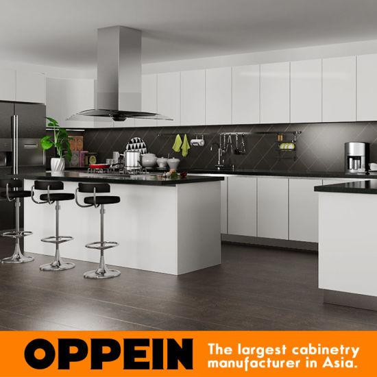 Cina Mobile per cucina in legno con finitura in PVC Oppein ...