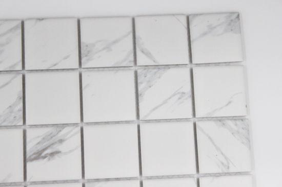 Chine Jazz blanc mat céramique blanche mosaïque Inkjet Clara ...