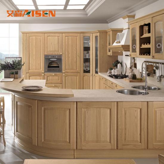 Cucina di legno su ordinazione italiana di qualità superiore del paese di  disegno moderno