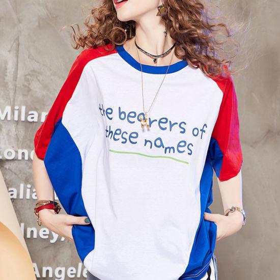 China Logotipo personalizado Imprimir Camiseta chica 100