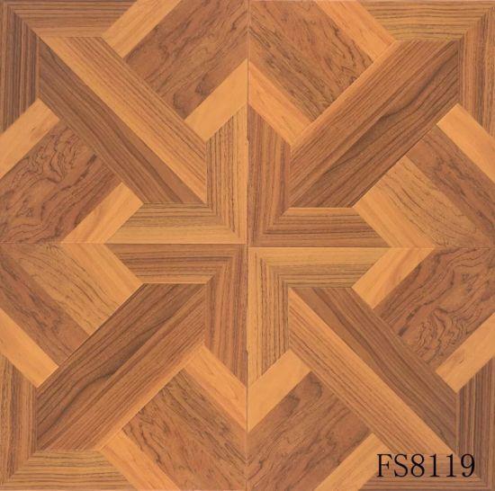 Arte em parquet de madeira HDF pisos laminados