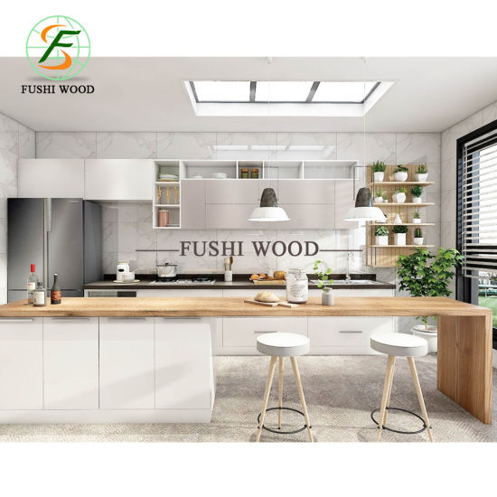 Un design moderne prix d\'usine MDF des armoires de cuisine américaine