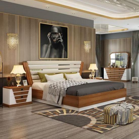 Chambre à coucher Mobilier de style classique et moderne avec lit King Size  (201)