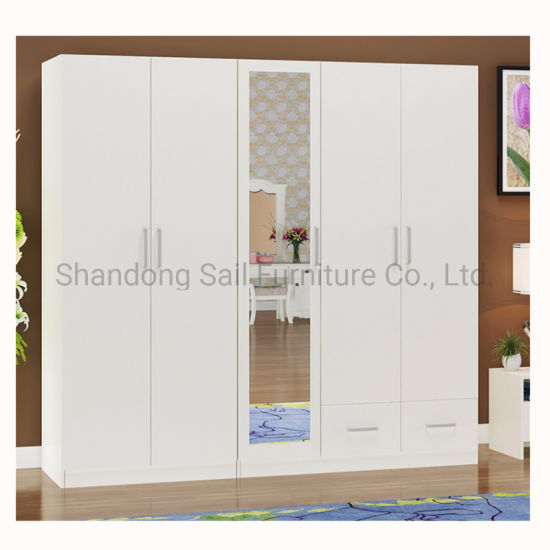 Chine 5 portes des armoires en bois moderne de chambre à ...
