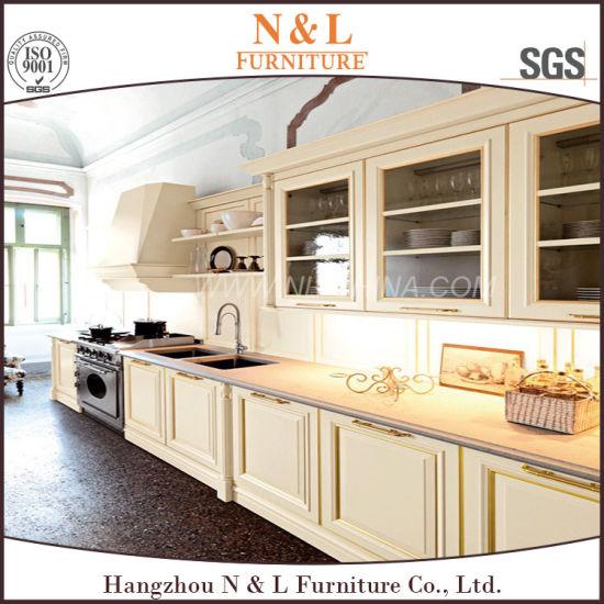 N&L Cherry/Oak madera maciza puerta de cristal Armario de Cocina mobiliario  de diseño italiano