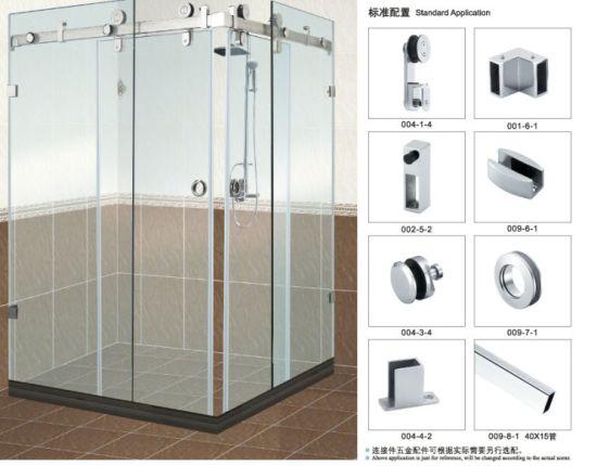China Badezimmer-Glasschiebetür-Zubehör B004 für Dusche-Raum ...