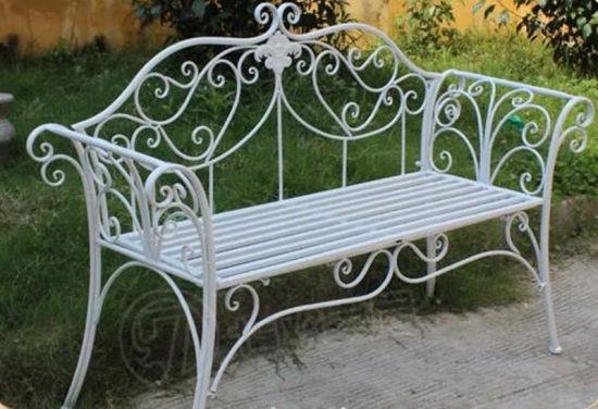 Banc de jardin en fer forgé pour mobilier extérieur