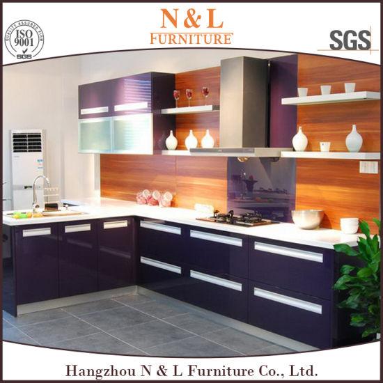 N&L esquina estándar de alto brillo asequibles archivadores Diseño de  Muebles de Cocina