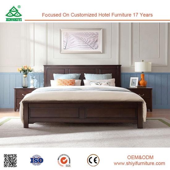 Chambre à coucher de haute qualité du mobilier moderne en bois de lit King  Size