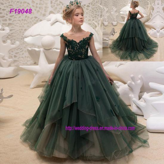 vente discount style moderne bien pas cher La princesse Tulle filles Pageant Première Communion Kids les robes du soir