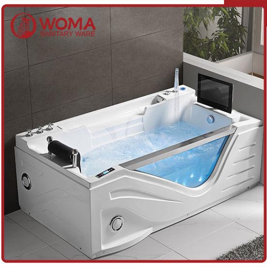 Chine Baignoire De Massage A Chaud De Luxe Avec Tv Q325s Acheter Baignoire Whirlpool Sur Fr Made In China Com