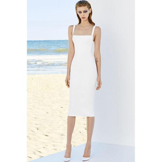 China Lujo Elegante Vestido Blanco Vestido De Prom Vestido