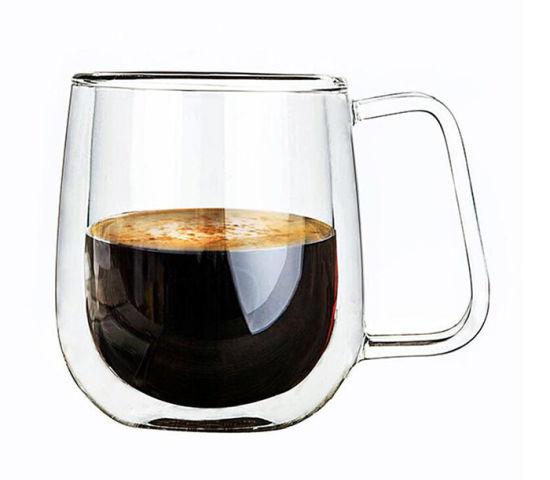 Verre vin rouge café lait tasse résistant à la Chaleur Verre à Mug Transparent Tasse à Thé