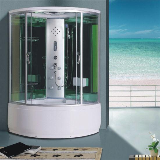 Salle de bains jacuzzi hydro massage cabine de douche avec baignoire Radio