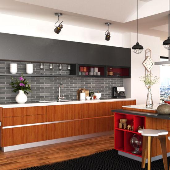 China Madera maciza de nogal Muebles de cocina con encimera ...