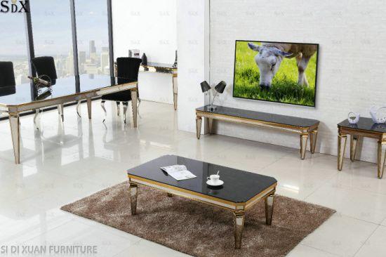 China Muebles de comedor moderno de cristal templado de alta ...