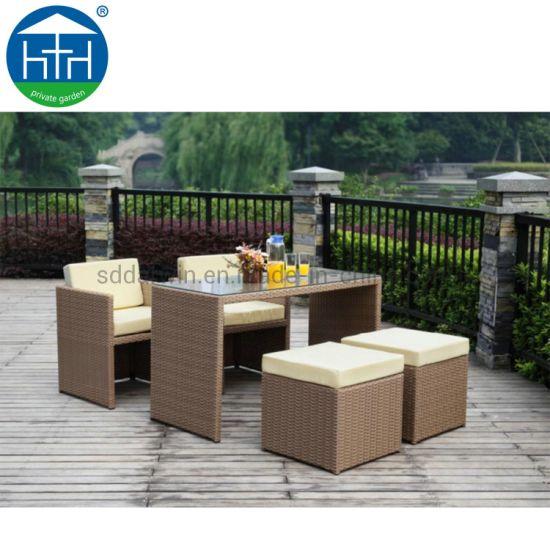 China Jardín Patio Comedor Mimbre Mimbre Mimbre Muebles De