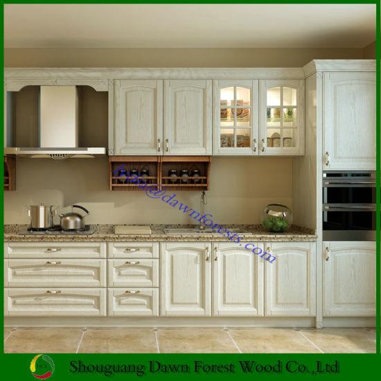 Armadio da cucina di legno della mobilia della cucina di MFC di stile  americano con il portello dell\'agitatore