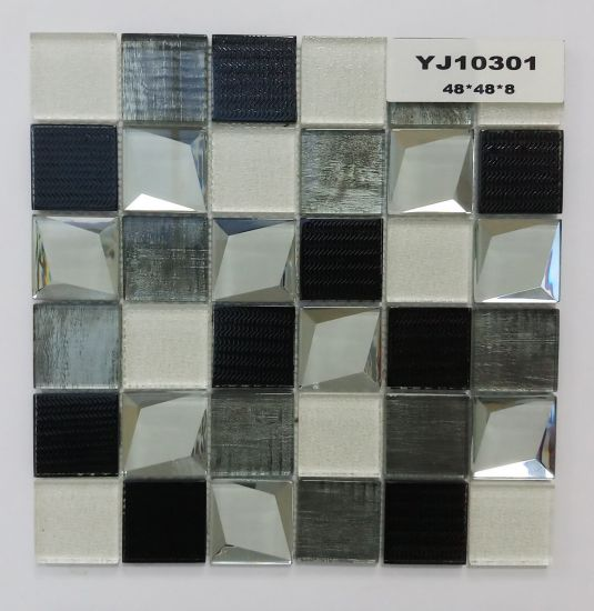 Mattonelle di vetro di Backsplash del mosaico della cucina di sembrare  moderno 3D per la decorazione, cucina, stanza da bagno