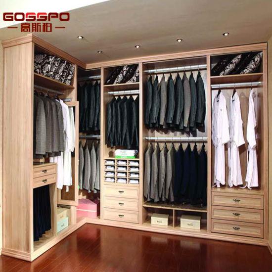Armadio di legno di mogano del guardaroba della mobilia della camera da  letto grande (GSP17-022)