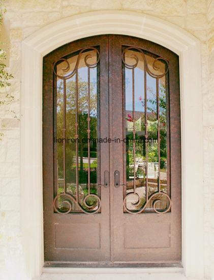дизайн верхней части главного входа из кованого железа передних дверей гриль дизайн
