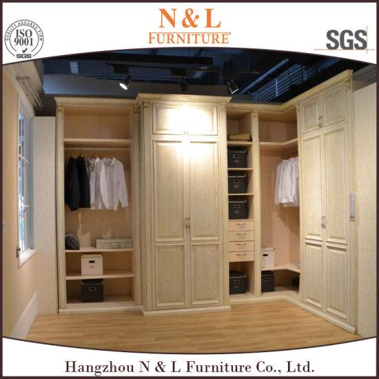 Chambre à coucher en bois moderne Armoire penderie personnalisé