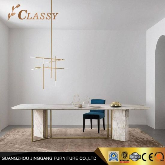 Nouveau design Table à manger en marbre Meubles de salle à manger moderne