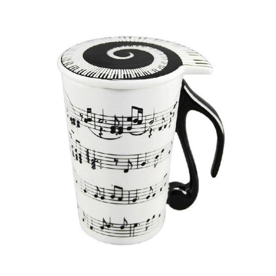 notas musicales utensilios de cocina utensilios de cocina Taza de Café con Leche