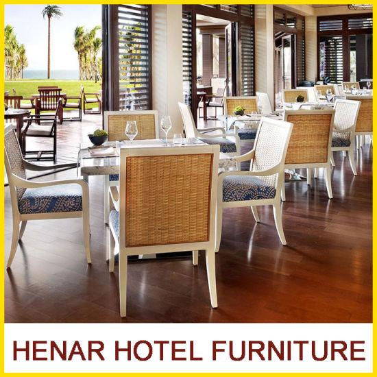 Silla de mimbre de madera mesa de comedor Muebles para restaurante Cafe