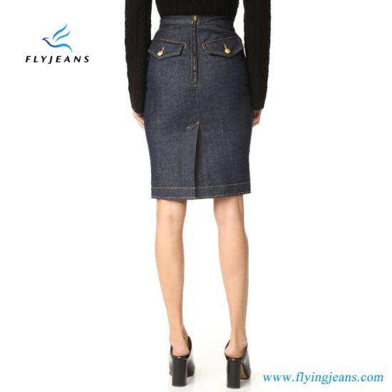 disponibilidad en el reino unido 7a7f9 6c8cd Señoras de la Oficina de la moda faldas Jeans Stretch Mujer Denim faldas  lápiz (E. Pág. 517)
