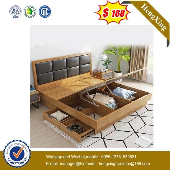 современный дизайн с одной спальней и гостиной мебели Mdf деревянные кровати размера кинг Ul 9gd059