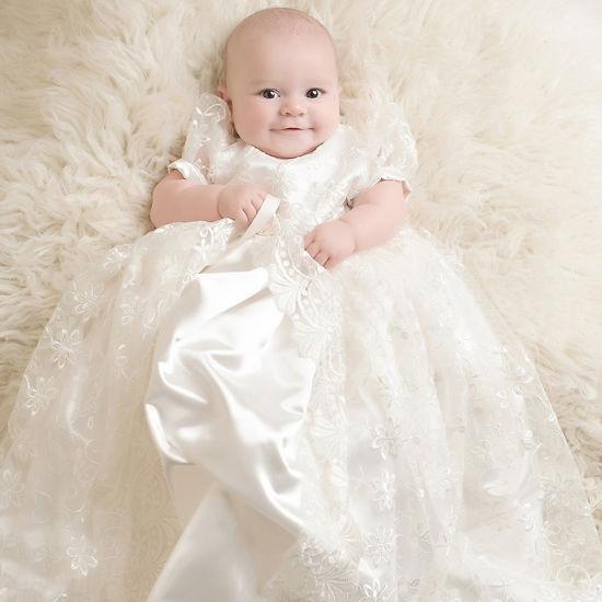 classic fit a3764 381f8 Vestito da battesimo del vestito dalla ragazza di fiore del merletto del  vestito dai capretti del bambino