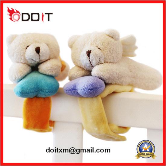 Tecla Colorida De Desenhos Animados De Pelúcia Bebê Urso De Insetos Pulseira Guizo Toy