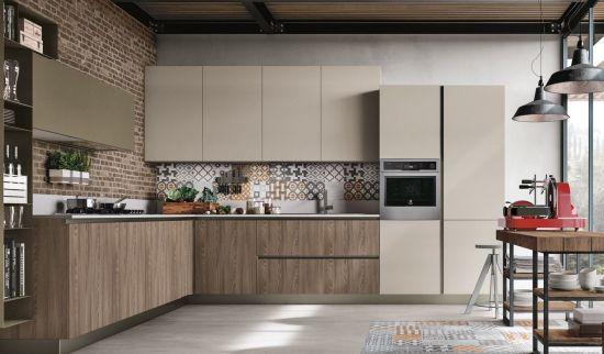 gabinetes de cocina de laminado marrón China Nuevo Proyecto Hotelero Chapas De Madera Melamina