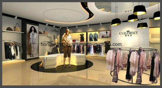 China Dames Kleding Winkel Display Design Voor Kleding Shop