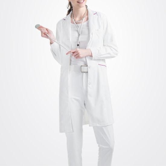 Blouse de Médecin Docteur Costume Ensemble 2 Pièces Blanc