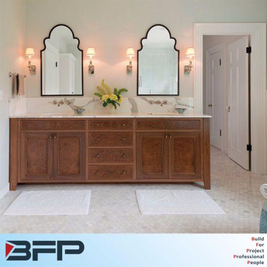 Nouvelle Amérique sculpté de style armoire salle de bains avec double  vasque et miroir
