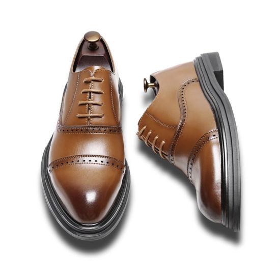 Brogues указал ног мужская кожаные туфли Oxford для мужчин деловой стиль одежды обувь