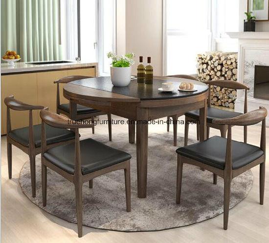 Juego de mesa redonda el restaurante del Hotel de madera de Muebles Muebles  de comedor Muebles de Comedor madera maciza mesa de juego de mesa