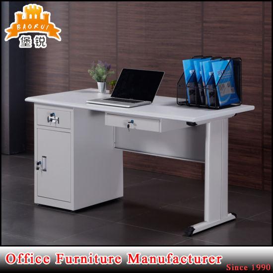 3 Cajones Mesa Oficina metálica Mesa de ordenador