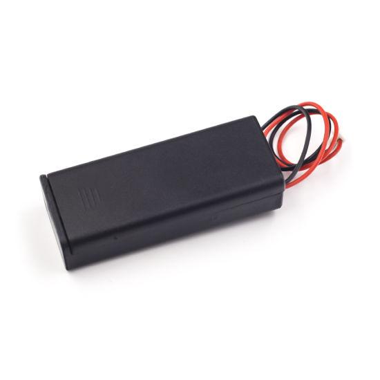 2pcs support en plastique avec interrupteur ON//OFF 2 x piles AA