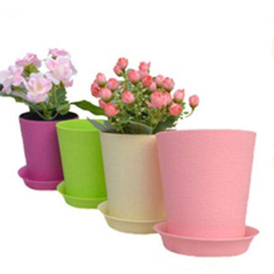 Pot de Fleurs Cylindro Ronde en Plastique