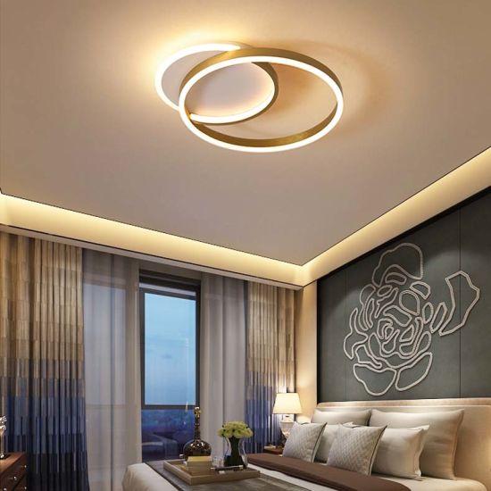 China Deckenleuchte-Lampe des Kaffee-/Goldbefestigte moderne ...