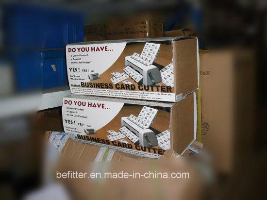 China Manuelle Scherblock Maschine Der Visitenkarte Qs4