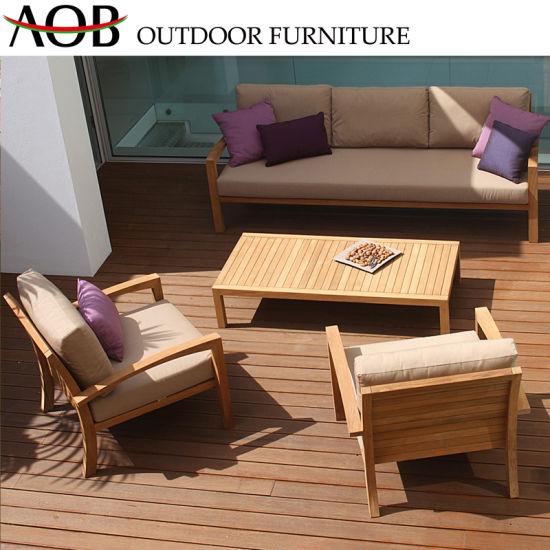 Chine Bois de teck de plein air Table et chaise Patio en ...