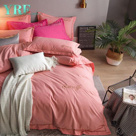 Tinte Llano Hojas de cama equipada Hoja Plana Poli Algodón Ropa de cama funda de almohada Hierro no