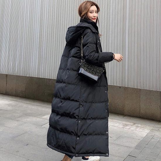 D'hiver de style coréen Lady plus épaisse de canard blanc plus chaud vers le bas veste matelassée Femmes Fourrure de renard Puffy réel vers le bas vestes Manteau à capuchon